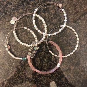 Bundle of 5 Alex & Ani Bracelets